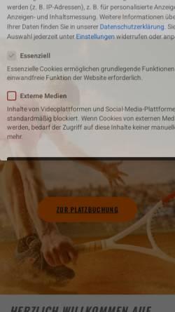 Vorschau der mobilen Webseite www.taf-tennis.de, Tennisclub am Falkenberg e.V.
