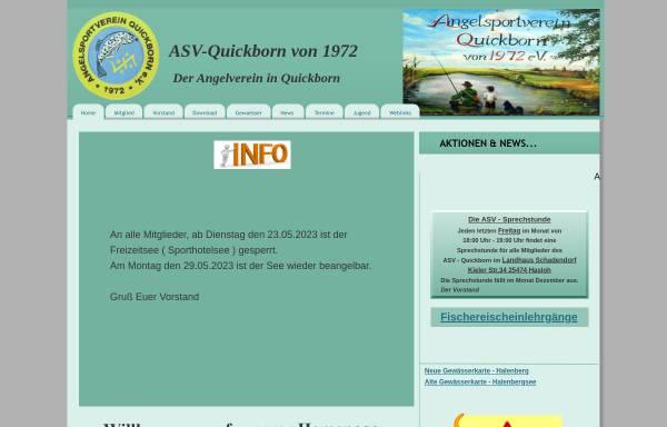 Vorschau von www.asv-quickborn.de, Angelsportverein Quickborn von 1972 e.V.