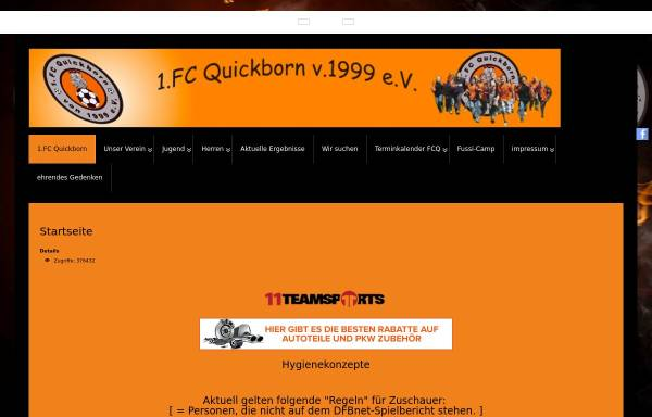 Vorschau von www.fc-quickborn.de, 1. FC Quickborn v. 1999