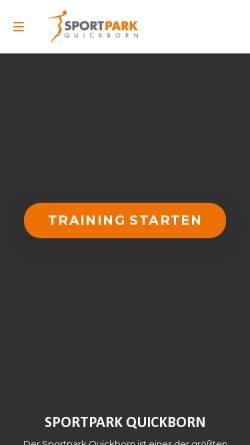 Vorschau der mobilen Webseite www.sportpark-quickborn.de, Sportpark Quickborn