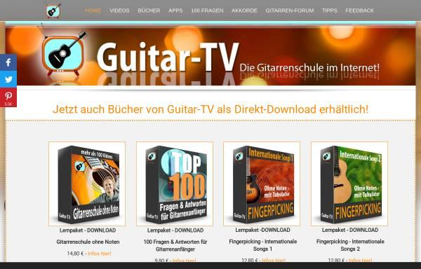 Vorschau von www.guitar-tv.de, Guitar-TV - Online Gitarre lernen