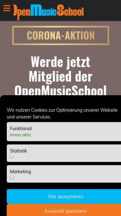Vorschau der mobilen Webseite www.openmusicschool.de, OpenMusicSchool
