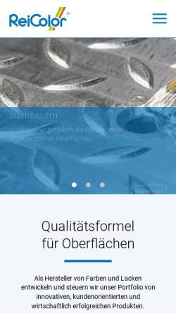 Vorschau der mobilen Webseite www.reicolor.de, ReiColor Chemie-GmbH