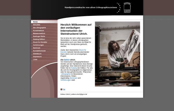 Vorschau von www.edition-ulrich.de, Steindruckerei Ulrich