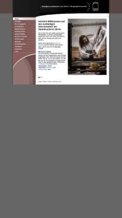 Vorschau der mobilen Webseite www.edition-ulrich.de, Steindruckerei Ulrich