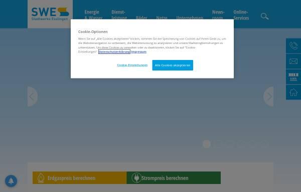Vorschau von www.swe.de, Stadtwerke Esslingen am Neckar GmbH & Co. KG (SWE)