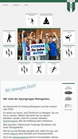 Vorschau der mobilen Webseite www.sg-weingarten.de, Sportgruppe Weingarten
