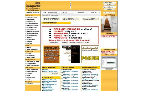 Vorschau von www.das-holzportal.com, Das-Holzportal.com by Start-Media-Concept, Inh. Reimund Reitz
