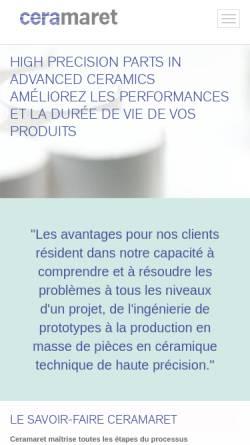 Vorschau der mobilen Webseite www.microceram.de, MicroCeram GmbH
