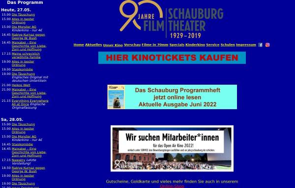 Vorschau von www.schauburg.de, Schauburg