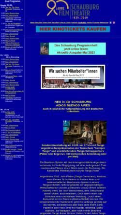 Vorschau der mobilen Webseite www.schauburg.de, Schauburg