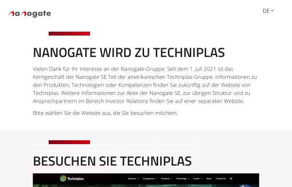 Vorschau von www.nanogate.de, Nanogate® GmbH