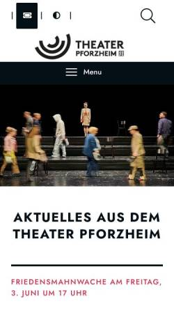 Vorschau der mobilen Webseite www.theater-pforzheim.de, Stadttheater