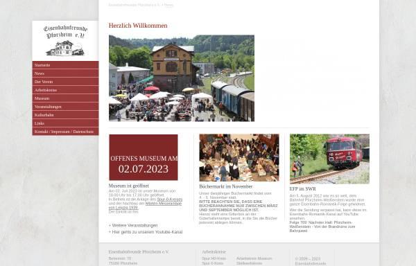 Vorschau von www.eisenbahnfreunde-pforzheim.de, Eisenbahnfreunde Pforzheim e.V.