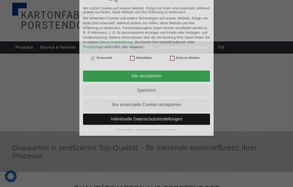 Vorschau von www.kartonfabrik.de, Kartonfabrik Porstendorf GmbH