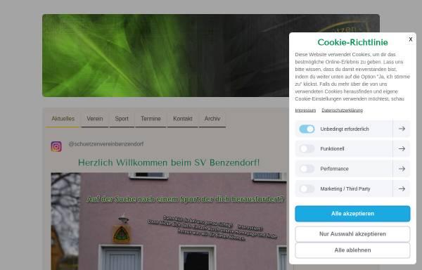 Vorschau von www.sv-benzendorf.de, Schützenverein Benzendorf und Umgebung e.V.