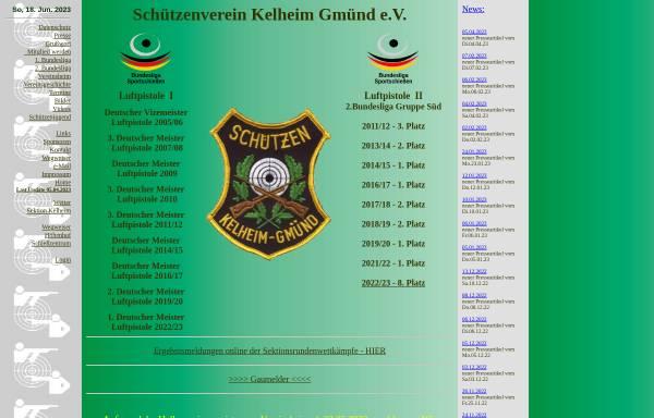 Vorschau von www.kelheim-gmuend.de, Schützenverein Kelheim Gmünd e.V.