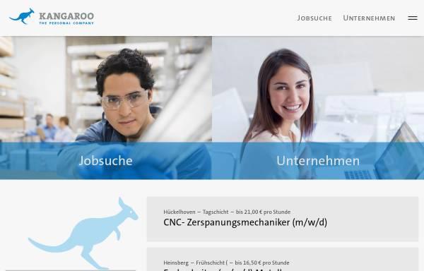 Vorschau von www.kangaroo.de, Kangaroo Personal-Dienstleistungen GmbH