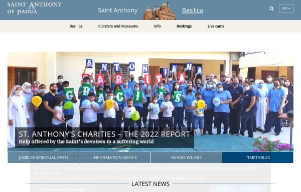 Vorschau von www.santantonio.org, Basilika des heiligen Antonius