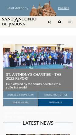 Vorschau der mobilen Webseite www.santantonio.org, Basilika des heiligen Antonius