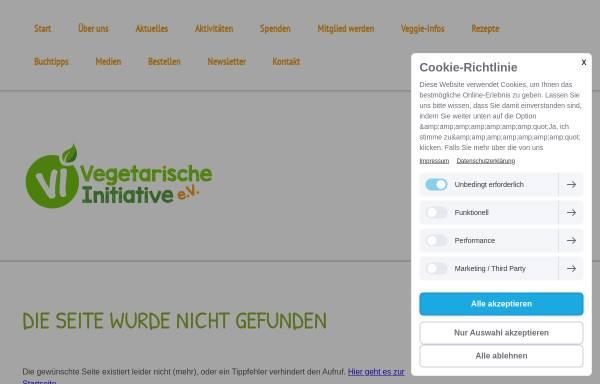 Vorschau von www.vegetarische-initiative.de, Fragen und Antworten zum Thema Milch