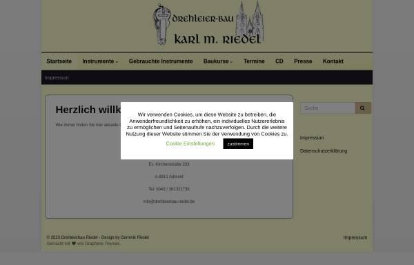 Vorschau von www.drehleierbau-riedel.de, Drehleierbau Karl M. Riedel