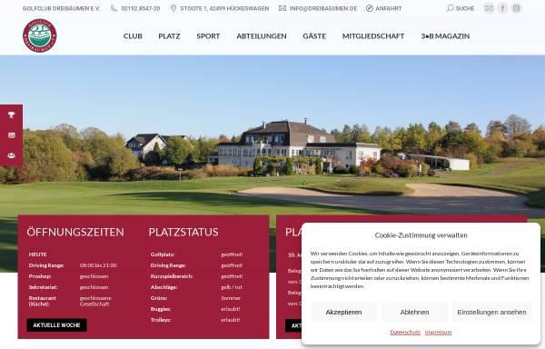 Vorschau von www.dreibaeumen.de, Golfclub Dreibäumen e.V.