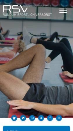 Vorschau der mobilen Webseite www.remscheider-sv.de, Remscheider Schwimmverein von 1897 eV.