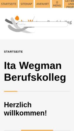 Vorschau der mobilen Webseite www.fachschule-wuppertal.de, Ita-Wegman-Berufskolleg