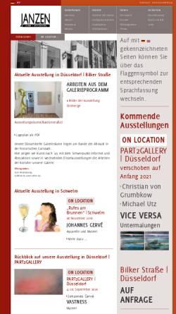 Vorschau der mobilen Webseite www.janzen-galerie.de, Galerie Janzen, Galerie und Kunst