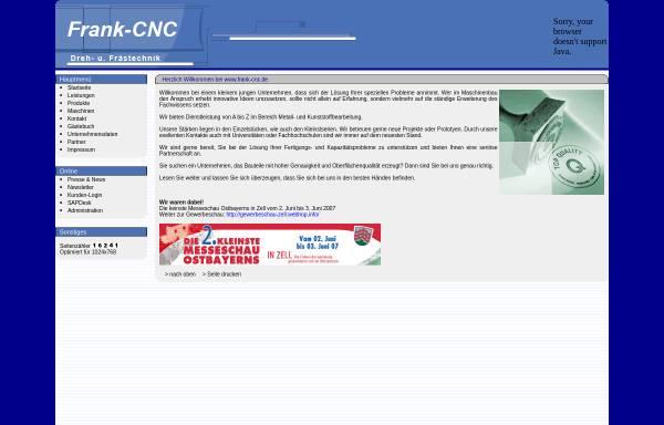Vorschau von www.frank-cnc.de, Frank CNC-Dreh-. und Frästechnik, Inh. Markus Frank