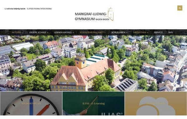 Vorschau von mlg-bad.net, Markgraf-Ludwig-Gymnasium