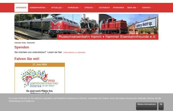 Vorschau von www.museumseisenbahn-hamm.de, Museumseisenbahn Hamm