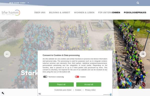 Vorschau von www.bfw-hamm.de, Berufsförderungswerk Hamm GmbH