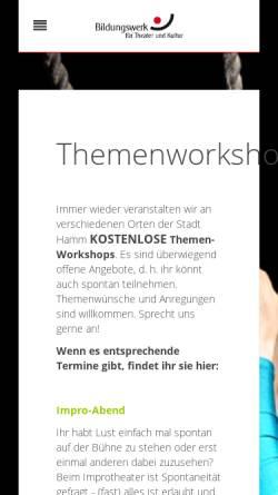 Vorschau der mobilen Webseite www.btk-hamm.de, Bildungswerk für Theater und Kultur Hamm
