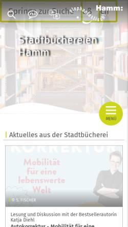 Vorschau der mobilen Webseite www.hamm.de, Stadtbücherei