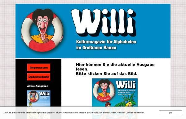 Vorschau von www.willi.hamm.net, Willi - Kulturmagazin für Alphabeten im Großraum Hamm