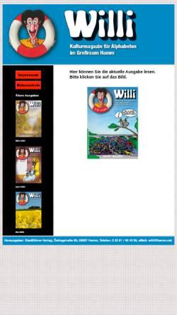 Vorschau der mobilen Webseite www.willi.hamm.net, Willi - Kulturmagazin für Alphabeten im Großraum Hamm