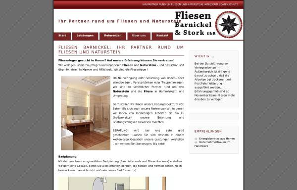 Vorschau von www.fliesenbarnickel.de, Fliesen Barnickel