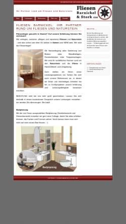 Vorschau der mobilen Webseite www.fliesenbarnickel.de, Fliesen Barnickel