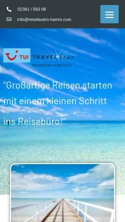 Vorschau der mobilen Webseite www.reisebuero-hamm.com, Reisebüo Kubutsch