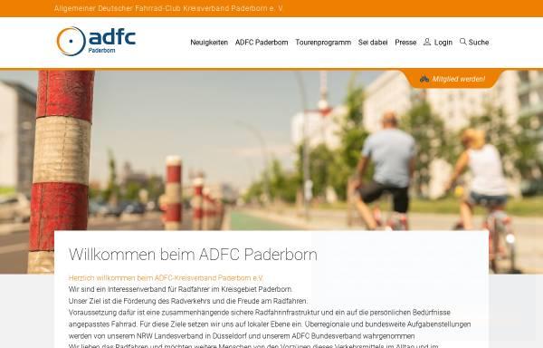 Vorschau von www.adfc-nrw.de, ADFC Kreisverband Paderborn e. V.