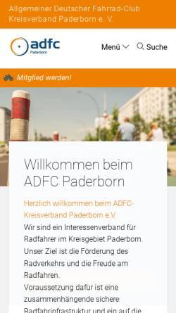 Vorschau der mobilen Webseite www.adfc-nrw.de, ADFC Kreisverband Paderborn e. V.