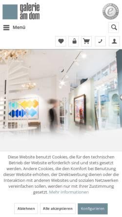 Vorschau der mobilen Webseite www.galerie-am-dom.de, Galerie am Dom