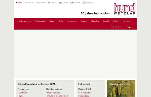 Vorschau von www.hund.de, Helmut Hund GmbH