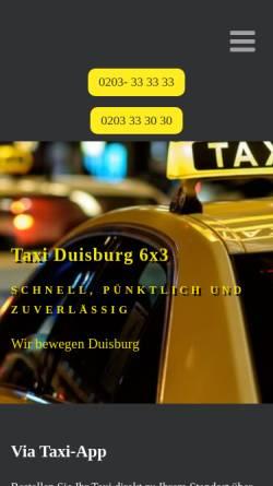 Vorschau der mobilen Webseite www.taxi-duisburg.net, Taxi Duisburg eG