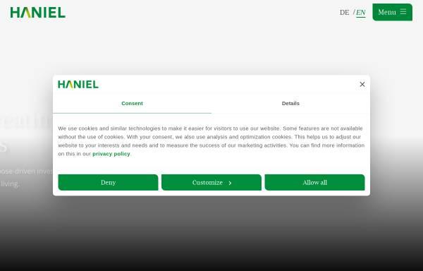 Vorschau von www.haniel.de, Franz Haniel & Cie. GmbH