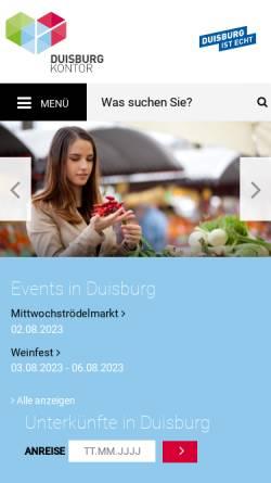 Vorschau der mobilen Webseite www.frischekontor.de, FrischeKontor Duisburg GmbH