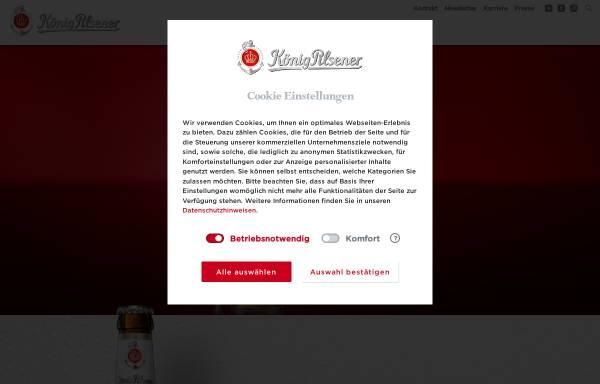Vorschau von www.koenig.de, König-Brauerei GmbH
