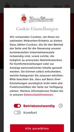 Vorschau der mobilen Webseite www.koenig.de, König-Brauerei GmbH